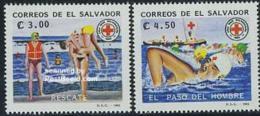El Salvador 1992 Water Rescue Service 2v, (Mint NH), Transport - Ships & Boats - Sport - Swimming - El Salvador