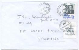 1998 CINEMA L. 900 ISOLATO PER FINLANDIA TARIFFA LETTERA 1° ESTERO RARO CON VIGNETTA E OTTIMA QUALITÀ (A746) - 6. 1946-.. Repubblica
