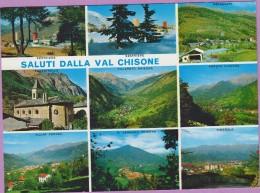 Italie °° VAL CHISONE - Saluti Via 9 Photos ° NEUVE - Autres