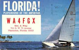Amateur Radio QSL - WA4FGX - Plantation, FL -USA- 1967 - 2 Scans - Radio Amateur