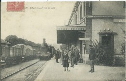 MARCIGNY - L'arrivée Du Train En Gare - Other Municipalities