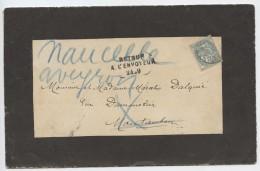Montauban, Naucelle 1907,inconnu,tampon,  Et écrit à La Main,retour à L´envoyeur,,Marcelin D´alquié - 1877-1920: Periodo Semi Moderno