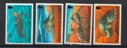 1994 Ascension Turtles Complete Set Of 4  MNH - Ascension (Ile De L')