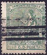 Spain 1873 - Allegory Of Spain ( Mi 127 - YT 132  Barré ) - Oblitérés