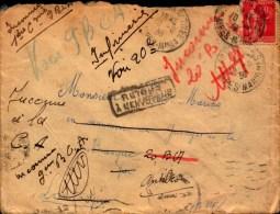 Lettre De 1936,Depart De St Sauveur 06, Inconnu, Retour A ...., Divers Change....., Lantosque,antibes,nice Hopital Paste - France