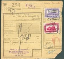 Bulletin D'expédition Affranchi à 53 . De ARDOOIE-KOOLSKAMP 23-X-1950 + Griffe ATH/ PD Vers Bruxelles. - 11288 - Railway