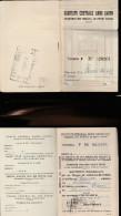 DOC2) COMITATO CENTRALE ANNO SANTO TRENO FERROVIA SCONTRINO NOMINATIVO E ALTRI BUONI SCONTO NON USATI QUALCHE PIEGA SEGN - Documenti Storici