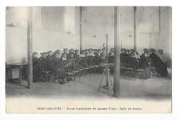 SAINT-GAULTIER   (cpa 36) Ecole Supérieure De Jeunes Filles - Salle De Dessin - - France