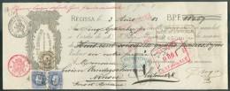 N°31(2)-35 Obl. Sc BRUXELLES Sur Traite établie à REGISSA (HUY) Le 3 Août 1882 Pour La Somme De 864,67 Frs à Mr. Vanders - 1869-1883 Léopold II
