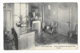 SAINT-GAULTIER   (cpa 36) Ecole Supérieure De Jeunes Filles - Bureau  - - France