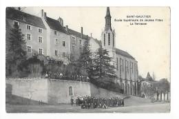 SAINT-GAULTIER   (cpa 36) Ecole Supérieure De Jeunes Filles - La Terrasse  - - France