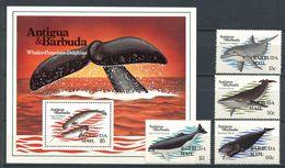 170 BARBUDA MAIL 1983 - Yvert 619/22 BF 72 - Mammifere Marin - Neuf ** (MNH) Sans Trace De Charniere - Antigua Y Barbuda (1981-...)