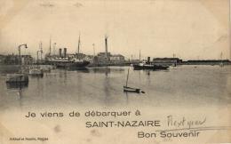 44 - Je Viens De Débarquer à Saint Nazaire  - Bon Souvenir - 99150 - Saint Nazaire