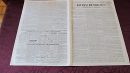 CORNEBARRIEU , L´INONDATION AU CONSEIL GENERAL DE LA HAUTE-GARONNE - - 1845 ( JOURNAL DE TOULOUSE.) - Journaux - Quotidiens
