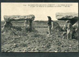 CPA - De ST POL DE LEON à ROSCOFF - Les Dolmens De Caravel, Animé - Frankreich