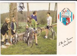 CPSM VELO BICYCLETTE SEMAINE FEDERALE INTERNATIONALE DE CYCLOTOURISME ST OUEN L AUMONE ILE DE FRANCE 1985 - Cartes Postales