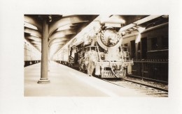 CPA 1922 - Carte Photo -  Gare & Train à JERSEY CITY - Stations With Trains