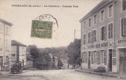 Coublanc - Le Cadolon - Grande Rue (Hôtel Des Voyageurs - Nevers, Mathoux Sucr, Vieille Automobile - Circulé 1921 - France
