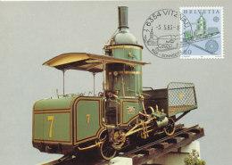 D24724 CARTE MAXIMUM CARD 1983 SWITZERLAND - ZAHNRADBAHN EUROPA CP ORIGINAL - Trains
