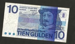 PAYS - BAS / NETHERLANDS / OLANDA - De Nederlandsche Bank - 10 GULDEN  (1968) - [2] 1815-… : Regno Dei Paesi Bassi