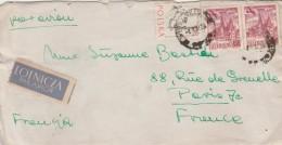 Pologne Lettre Par Avion Expéditeur Prof Manfred Lachs Warszawa 1957 Pour Paris France - Cartas
