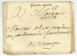 ARMEE DE BOHEME - Lettre D'officier - Camp De PISEK Tcheque 1742 - Bataille De Chotusitz - Postmark Collection (Covers)