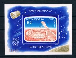 Rumänien 1976 Olympia Block 136 ** - 1948-.... Républiques