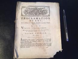 PROCLAMATION DU ROI, 24 AOUT 1790 - Decretos & Leyes