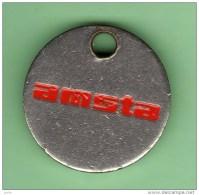 Jeton De Caddie *** AMSTA *** (0351) - Trolley Token/Shopping Trolley Chip
