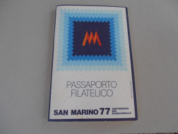 SAN MARINO - PASSAPOPRTO FILATELICO 1977 - San Marino