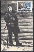 "RUSSIE - 1961 -  Carte Maximum "" FRITDJOF NANSEN ""  Explorateur Norvégien - B/TB - - Cartes Maximum"