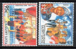 2006 St. Lucia Christmas   Complete Set Of 2 MNH - St.Lucia (1979-...)