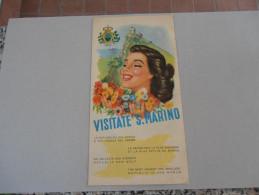 SAN MARINO DEPLIANT PUBBLICITARIO ANNI 50 - Reiseprospekte
