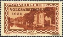 Saarland 181 Mit Falz  1934 Volksabstimmung 1935 - Nuovi