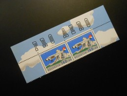 CH ZNr.49   2x140+60C**MNH  Flugpost  1988 - Nuevos