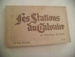 CARNET DE 14 CARTES LES STATIONS DU CALVAIRE DE N.D DE LOURDES - Lourdes