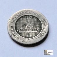 Bélgica - 5 Céntimos - 1863 - 1831-1865: Léopold I