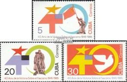 Cuba 2950-2952 (complète.Edition.) Neuf Avec Gomme Originale 1985 Anniversaire Fin De 2. Guerre Mondiale - Cuba