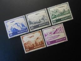 CH ZNr.27+28+29+30+31**MNH  Flugpost  1941 - Luftpost