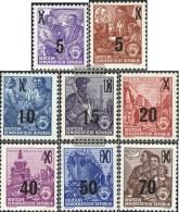 DDR 435ND-442ND (completa Edizione) Reprint Usato 1954 Five-Year Plan - [6] Repubblica Democratica