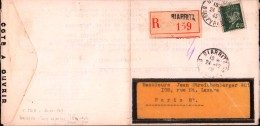 Lettre Recommandée Biarritz 1943 Pétain 4F50 Tuileries A. Bisch Seltz Bas-Rhin Jean Streichenberger & Cie - Cartas
