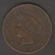 FRANCIA 10 CENTIMES 1896 - Francia