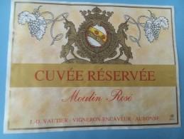 1387 - Suisse Vaud  Cuvée Réservée Mouin Rosé Aubonne - Etiquettes