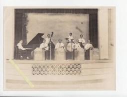 Musique - Orkestre Circa 1950/60  - Lot De 2 Photos Originales - Dont Les Compagnons Du Rythme - Non Classés