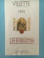 1392 - Suisse Vaud Villette Les Echelettes 1991 - Etiquettes