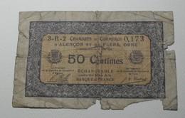 1915 - France - 50  CENTIMES, Chambre De Commerce D'Alençon Et De Flers, Orne, 3-R-2  0,173 - Chambre De Commerce