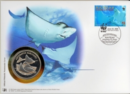 Numismatic Numis Cover Of WWF Mayreau Spotted Eagle Ray / Fish 2009 - W.W.F.