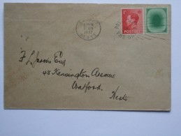GB EDWARD VIII COVER WITH `POACHED EGG` TEST STAMP - 1902-1951 (Kings)