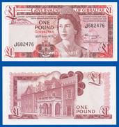 1975  GIBRALTAR  £1  QUEEN ELIZABETH  & COVENANT  KRAUSE 20a  SUPERB UNC. CONDITION - Gibilterra