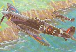 AVIATION       H34       Avion.Supermarine Spitfire ( Francis Bergèse ) - 1939-1945: 2. Weltkrieg